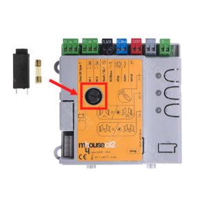 Porte-fusible 5 x 20 mm 250V 10A pour carte Mhouse, Nice et Evology (fusible T2A inclus)