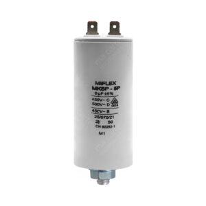 Condensateur 8uF/8µF démarrage / permanent pour moteur – Cosses Faston 6,3mm
