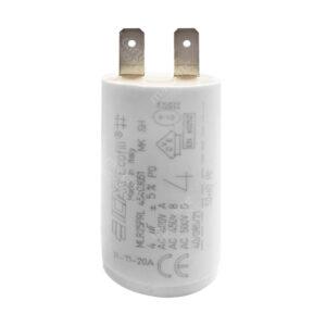 Condensateur 4uF/4µF ICAR Ecofill WB 4040 démarrage / permanent pour moteur – Cosses Faston 6,3mm