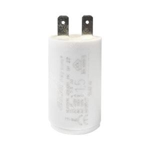 Condensateur 1,5uF (µF) ICAR Ecofill MLR25PRL démarrage / permanent pour moteur – Cosses Faston 6,3mm
