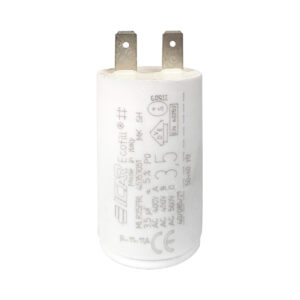 Condensateur 3,5uF (µF) ICAR Ecofill MLR25PRL démarrage / permanent pour moteur – Cosses Faston 6,3mm