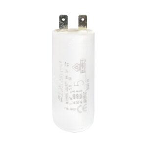 Condensateur 5uF/5µF ICAR Ecofill MLR25PRL démarrage / permanent pour moteur – Cosses Faston 6,3mm
