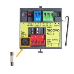Fusible T063A (630mA) 5 x 20 mm pour carte Mhouse et Evology / Moovo MCI1 – Lot de 5
