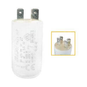 Condensateur 7uF/7µF ICAR Ecofill WB 4070 démarrage / permanent pour moteur – Cosses Faston 6,3mm