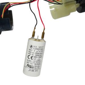 Condensateur 4uF (compatible 3,5µF) pour moteur de volet / store SOMFY et SIMU – Cosses Faston 2,8mm