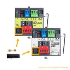 Porte-fusible 5 x 20 mm horizontal pour carte Evology / Moovo MCI1 (fusible non inclus)